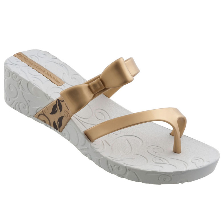 81b504d0eba666 Ipanema GB Hot Sands Plat Sandale - Weiß Gold
