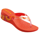 Ipanema Shine Fem wedge - red/clear