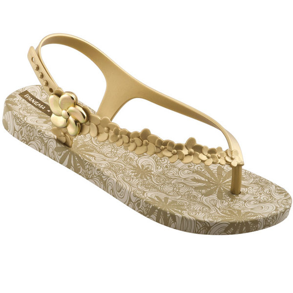 7a8604e6cd52d1 Ipanema Gisele Bündchen Flowers Sandal - gold - Was Schickes