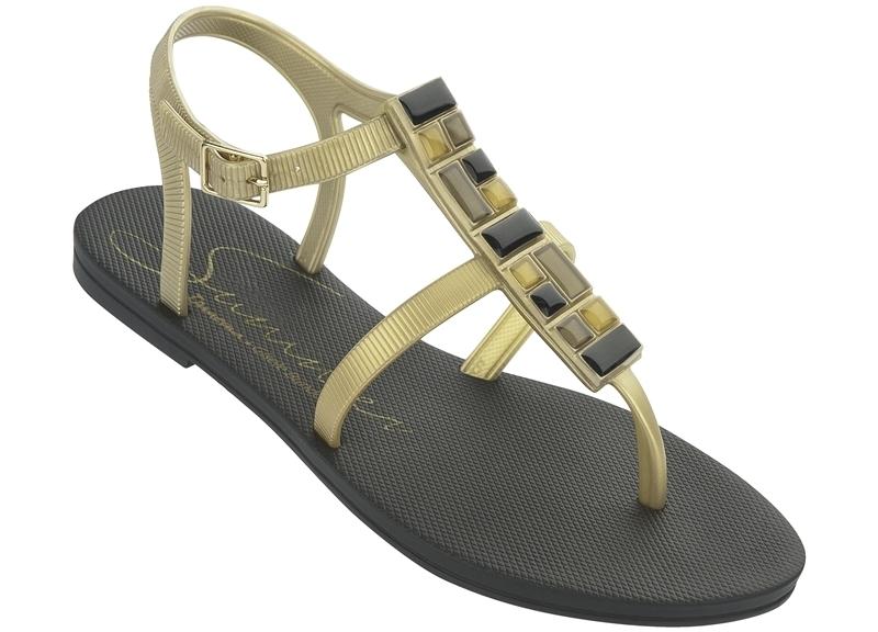 Ipanema Gisele Bündchen Sandale - schwarz gold neu 2014 f0b4b02824f1