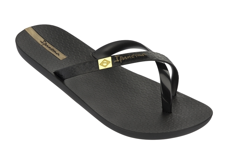 official photos d4444 e38b1 Ipanema Mix Brasil Sandalen - Schwarz/Gold - Was Schickes