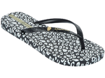 Ipanema Animal print thongs - black/white